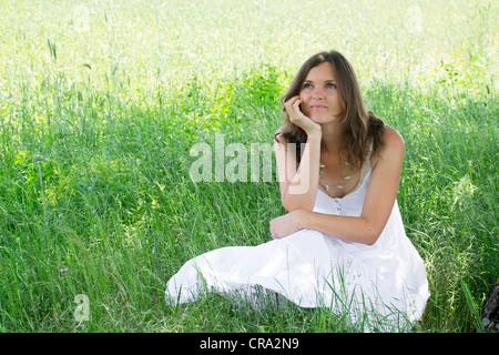 beautiful serene girl sitting in triang mukha eka pada
