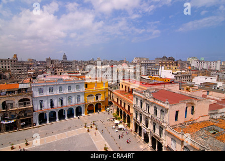View over the rooftops of Havana, Cuba, Caribbean - Stock Photo