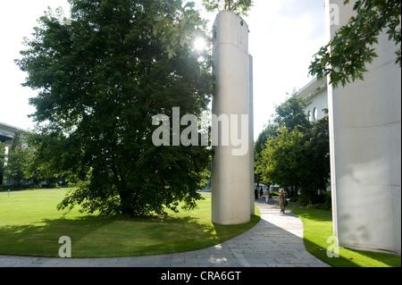 View from the garden, Bundeskanzleramt Federal Chancellery, Berlin, Germany, Europe - Stock Photo