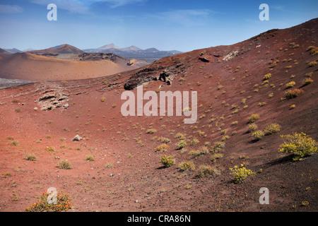 Timanfaya National Park, Lanzarote, Canary Islands, Spain - Stock Photo