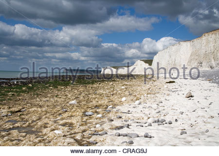 seven sisters from birling gap on the south downs in east sussex - Stock Photo