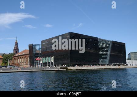 The Black Diamond, modern addition to the Royal Danish Library Copenhagen, Denmark, Scandinavia, Europe, PublicGround - Stock Photo