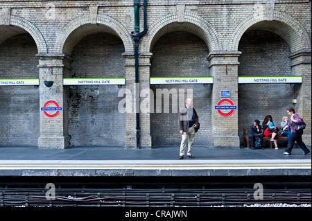 Notting Hill Gate underground station, Notting Hill, London, England, United Kingdom, Europe - Stock Photo