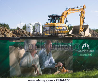 construction site by McCarthy and stone in burgess hill west sussex - Stock Photo