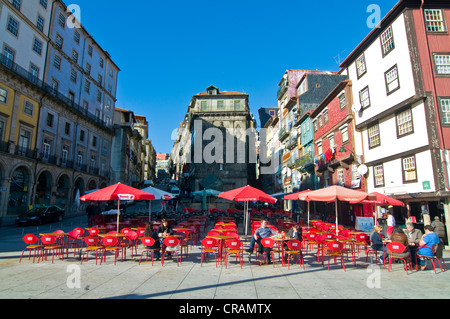 Café or restaurant in the old town of Porto, Portugal, Europe - Stock Photo