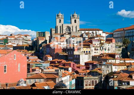 Sé do Porto or Cathedral of Porto, old town, UNESCO World Heritage Site, Porto, Portugal, Europe - Stock Photo