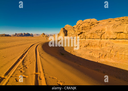 Mountains and desert, Wadi Rum, Jordan, Middle East - Stock Photo
