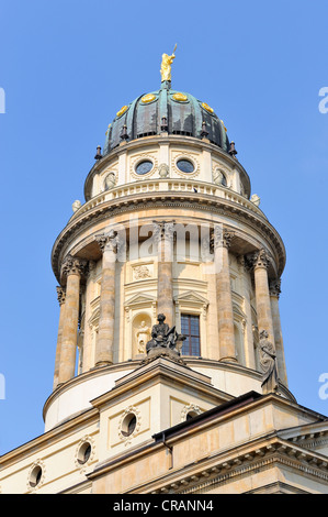 French Church of Friedrichstadt, French Cathedral on Gendarmenmarkt square in Berlin, Germany, Europe - Stock Photo