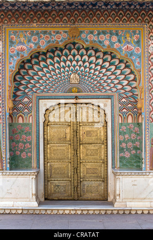 City Palace Jai Singh II, Jaipur, Rajasthan, India, Asia - Stock Photo