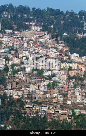 Shimla, capital of Himachal Pradesh, North India, India, Asia - Stock Photo