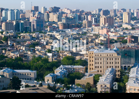 View over Baku, Azerbaijan, Middle East - Stock Photo