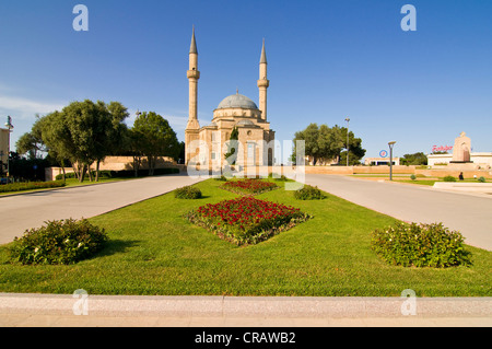 Mosque with minarets, Baku, Azerbaijan, Middle East - Stock Photo