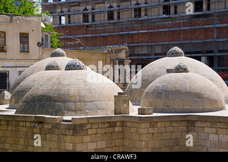 Roof of an old steam bath, Hammam, Baku, Azerbaijan, Caucasus, Middle East - Stock Photo