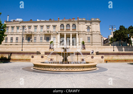 Fountain Square, Baku, Azerbaijan, Caucasus, Middle East - Stock Photo