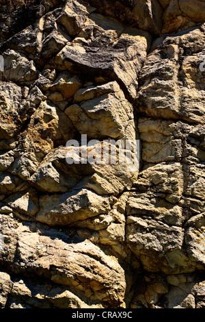 Natural stone rockface - Stock Photo