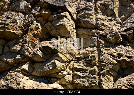 Natural stone rockface - Stock Photo