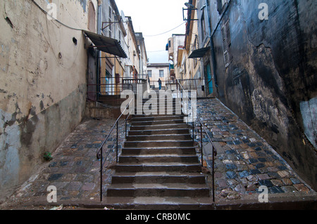 Steep stairs in Bejaia, Kabylie, Algeria, Africa - Stock Photo
