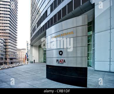 Headquarters of Commerzbank in Frankfurt am Main, Hesse, Germany, Europe - Stock Photo