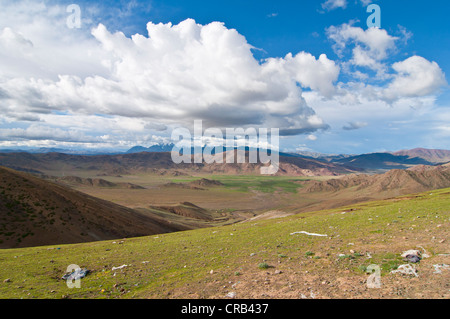 Mountainous Himalayan landscape along the southern route into Western Tibet, Asia - Stock Photo