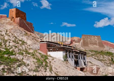 Gyantse, Tibet, Asia - Stock Photo