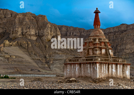 Large stupa in the kingdom of Guge, Western Tibet, Tibet, Asia - Stock Photo