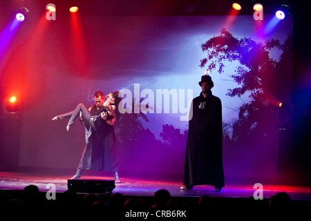 Artistic performances accompanying rock songs, live, Das Zelt - Rock Circus, Lucerne, Switzerland, Europe - Stock Photo