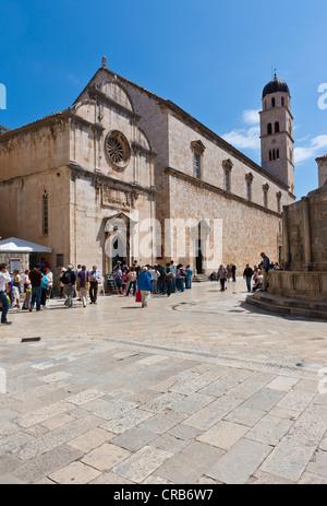 Franciscan Monastery in the old town of Dubrovnik, UNESCO World Heritage Site, central Dalmatia, Dalmatia, Adriatic - Stock Photo