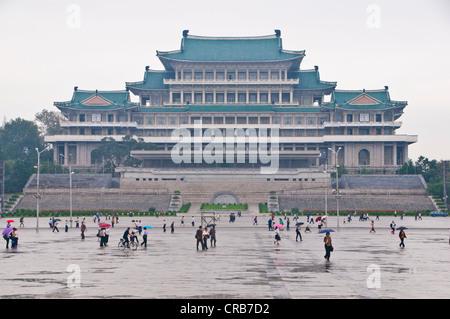 Grand People's Study House, Pyongyang, North Korea, Asia - Stock Photo