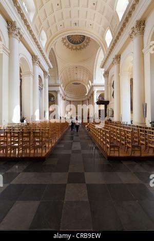 Church of Saint-Jacques-sur-Coudenberg, Place Royale, Brussels, Brabant, Belgium, Europe - Stock Photo