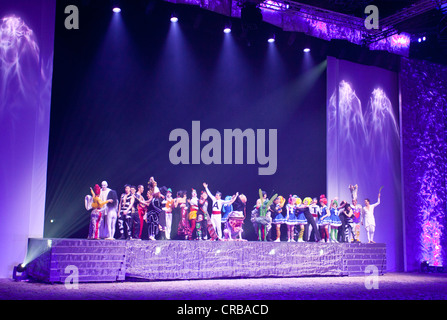 Magnifico, show by André Heller, world premiere on 08.02.2011, Munich, Bavaria, Germany, Europe - Stock Photo