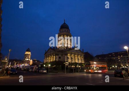 Gendarmenmarkt square in the evening, Berlin, Germany, Europe - Stock Photo