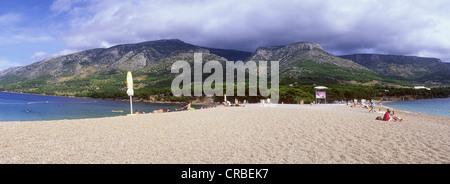 Beach, Zlatni Rat, Bol, Brac Island, Dalmatia, Croatia, Europe - Stock Photo