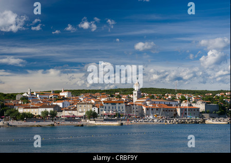 Town of Krk, Krk island, Kvarner Gulf, Croatia, Europe - Stock Photo
