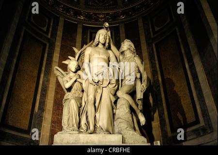 Jesus statue, church, parish church Église de la Madeleine, Sainte-Marie-Madeleine, St. Mary Magdalen, Paris, France, - Stock Photo