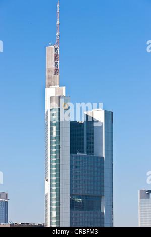 Commerzbank Tower, Frankfurt am Main, Hesse, Germany, Europe - Stock Photo