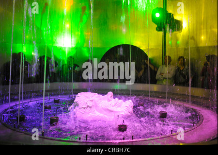 Art and wine, installation of wine production with Bacchus, Loisium World of Wine, Langenlois, Kamptal, Wachau, - Stock Photo