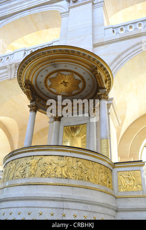 Interior view, high altar with golden ornamentation, Saint-Louis des Invalides Church, L'Hôtel national des Invalides - Stock Photo
