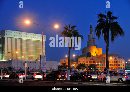 Tower of the Qatar Islamic Cultural Center FANAR, Doha, Qatar, Middle East - Stock Photo