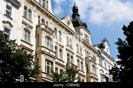 A magnificent building in the old town, Behová, Prague, Czech Republic, Europe - Stock Photo