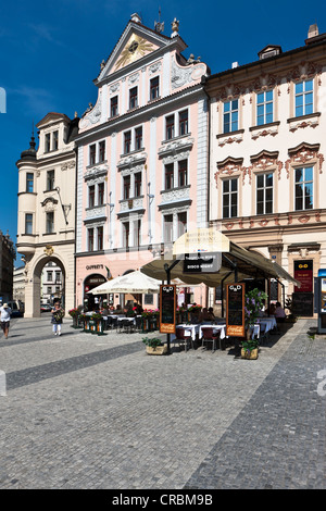 Magnificent building on the Old Town Square, Prague, Czech Republic, Europe - Stock Photo