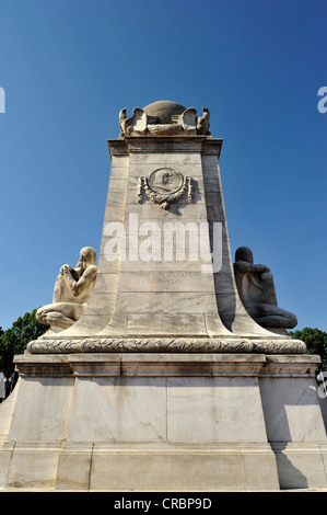 Christopher Columbus Memorial Fountain, monument, in front of Union Station, Washington DC, District of Columbia - Stock Photo