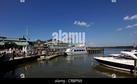 Alexandria National Harbor, waterfront, old town of Alexandria, Virginia, United States of America, USA, PublicGround - Stock Photo