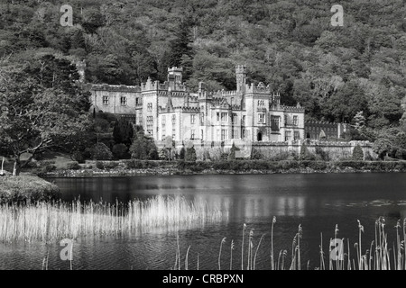 Kylemore Abbey, Connemara, County Galway, Ireland, Europe - Stock Photo