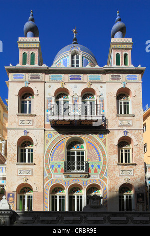 Historic villa from the Belle Epoque in the oriental style on the Boulevard des Jardins Exotiques, Principality - Stock Photo