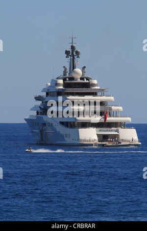 Luxury motor yacht Eclipse, longest yacht in the world, as of 2012, c 163m long, owned by Roman Abramovitch, built - Stock Photo