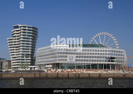 Unilever-Haus building, Hafencity harbour district, Hamburg, Germany, Europe - Stock Photo