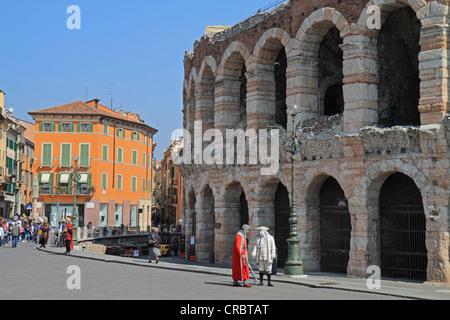 Arena di Verona, Verona Arena, a Roman amphitheatre, Verona, Veneto region, Italy, Europe - Stock Photo
