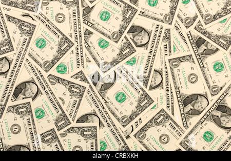 1 US dollar bills - Stock Photo