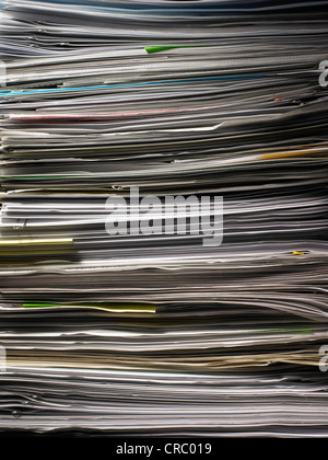 stack of paper documents - Stock Photo