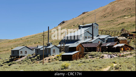 Standard Stamp Mill, mine and mine buildings, mine, ghost town of Bodie, a former gold mining town, Bodie State - Stock Photo